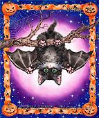 Kayomi, CUTE ANIMALS, paintings, HalloweenBat_M, USKH70,#AC# illustrations, pinturas ,everyday