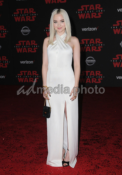 "09 December  2017 - Los Angeles, California - Dove Cameron. Premiere Of Disney Pictures And Lucasfilm's ""Star Wars: The Last Jedi"" held at The Shrine Auditorium  in Los Angeles Photo Credit: Birdie Thompson/AdMedia"