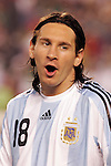 June 04 2008:  Lionel Messi (Barcelona / SPA) (18) of Argentina.  During Mexico's 2008 USA Tour in preparation for qualification for FIFA's 2010 World Cup, the national soccer team of Mexico was defeated by Argentina 1-4 at Qualcomm Stadium, in San Diego, CA.