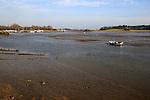 Low tide on River Deben between Woodbridge and Melton, Suffolk, England, UK