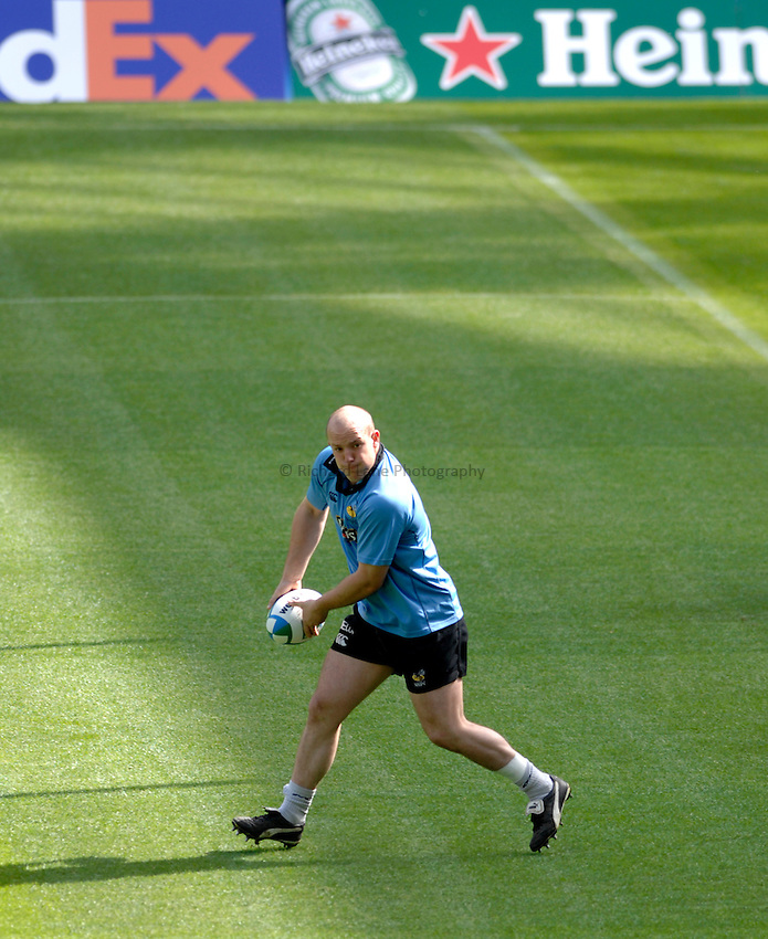 Photo: Richard Lane..London Wasps Heineken Cup Final Captains run. 19/05/2007. .Wasps' Tom French.