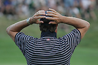 Paul Azinger is concerned after the Europeans win another point on the 18th hole in Saturday fourballs at the 37th Ryder Cup at Valhalla Golf Club, Louisville, Kentucky, USA - 20th September 2008 (Photo by Manus O'Reilly/GOLFFILE)