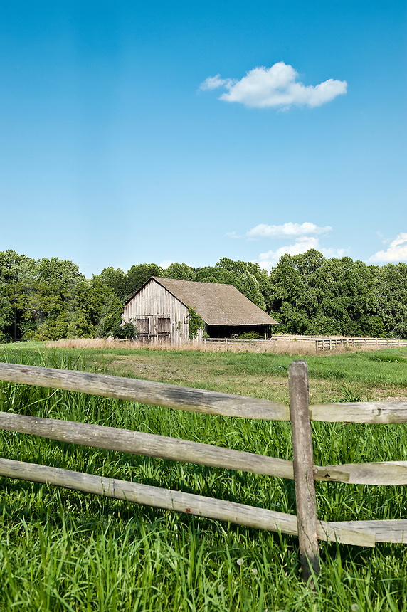 Rural barn and field, Chadds Ford, Pa, USA