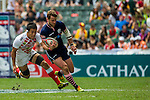 Scotland vs Japan during the HSBC Sevens Wold Series Bowl Quarter Finals match as part of the Cathay Pacific / HSBC Hong Kong Sevens at the Hong Kong Stadium on 29 March 2015 in Hong Kong, China. Photo by Manuel Bruque / Power Sport Images