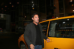 Ricky Paull Goldin arrives by cab at Ricky Paull Goldin Bus Trip Around Manhattan held on September 12, 2009 from the upper east side to Battery Park, Ground Zero and all around Manhattan. (Photo by Sue Coflin/Max Photos)