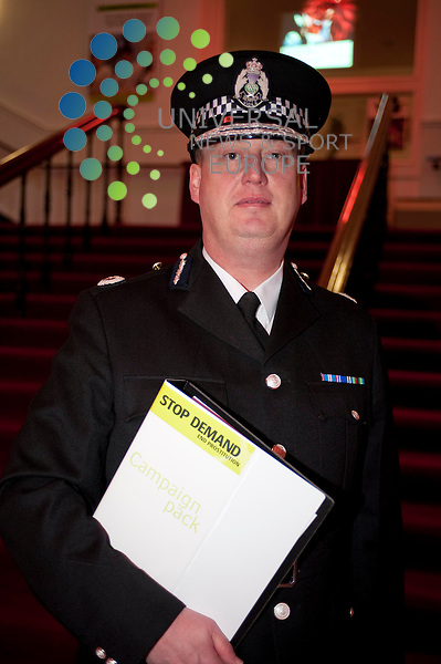 Assistant Chief Constable George Hamilton of Strathclyde Police speaks at the  'Stop Demand - End Prostitution Now' campaign which is led by Councillor James Coleman, Depute Leader of Glasgow City Council. The campaign is pushing for amendments to proposed and existing legislation which will create a range of offences designed to target the purchase of sex. ..City Halls, Candelriggs, Glasgow. 08/12/2009. Picture: Euan Anderson/Universal News And Sport (Scotland) 8th December 2009.