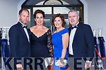 Colin and Annie O'Donovan, Kate and Dan Keane at the Kerry Garda ball in the Killarney Oaks Hotel on Friday night