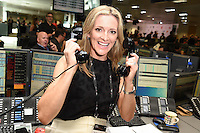 Gaby Logan<br /> on the trading floor for the BGC Charity Day 2016, Canary Wharf, London.<br /> <br /> <br /> &copy;Ash Knotek  D3152  12/09/2016