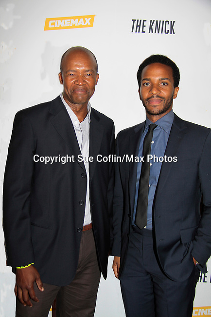 Leon Addison Brown & Andre Holland star in The Knick - on Cinemax - premiering Aug 8, 2014 - starring Andre Holland, Leon Addison Brown, David Fierro and more on July 23, 2014 at NY Academy of Medicine , New York City, New York.  (Photo by Sue Coflin/Max Photos)
