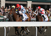 Karlovy Vary and James Graham win the 75th running of the Central Bank Ashland GRI at Keeneland racecourse.  April 7, 2012.