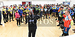 Garda Superintendent Andrew Watters Chairperson of Drogheda Wheelers Cycle Club gives a safety briefing before the Duleek Parish annual spotive cycle inn aid of Duleek National School. Photo:Colin Bell/pressphotos.ie