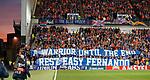 19.09.2019 Rangers v Feyenoord: Rangers fans tribute to Fernando Ricksen