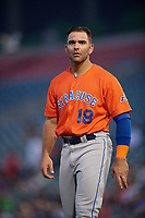 Syracuse Mets Danny Espinosa (18) during an International League game against the Buffalo Bisons on June 29, 2019 at Sahlen Field in Buffalo, New York.  Buffalo defeated Syracuse 9-3.  (Mike Janes/Four Seam Images)