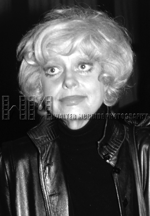 CAROL CHANNING photographed in New York City, <br /> 1982
