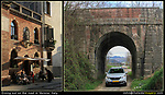 Italy, Verona. <br /> There are lots of ways of enjoying lunch, a fine restaurant or while on the road, literally. A rental car lets you experience the backroads and the locals.