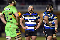 Max Lahiff of Bath Rugby. Aviva Premiership match, between Bath Rugby and Northampton Saints on February 9, 2018 at the Recreation Ground in Bath, England. Photo by: Patrick Khachfe / Onside Images