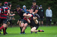 Action from the Top Four 1st XV boys' rugby semifinal between Hamilton Boys' High School and Hastings Boys' High School at Massey University in Palmerston North, New Zealand on Friday, 6 September 2019. Photo: Dave Lintott / lintottphoto.co.nz