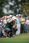 Lucas Bjerregaard of Denmark ponders his next shot during Hong Kong Open golf tournament at the Fanling golf course on 25 October 2015 in Hong Kong, China. Photo by Xaume Olleros / Power Sport Images