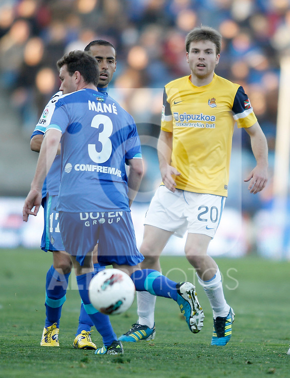 Real Sociedad's Vadim Demidov during La Liga Match. March 17, 2012. (ALTERPHOTOS/Alvaro Hernandez)