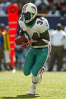Ricky Williams In an NFL game played at Giants Stadium between the Miami Dolphins and the New York Giants