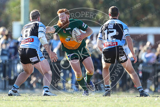 The Wyong Roos play Terrigal Sharks in the 207 1st Grade Central Coast Rugby League Division Grand Final at Woy Woy Oval on 17 September, 2017 in Woy Woy, NSW Australia. (Photo by Paul Barkley/LookPro)