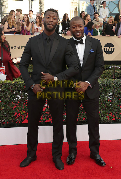 29 January 2017 - Los Angeles, California - Aldis Hodge, Deon Cole. 23rd Annual Screen Actors Guild Awards held at The Shrine Expo Hall. <br /> CAP/ADM/FS<br /> &copy;FS/ADM/Capital Pictures