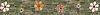 "6"" Meadow with Flowers border, a hand-cut stone mosaic, shown in tumbled Wujan Jade, Kay's Green, Chartreuse, polished Rosa Noriega, Crema Valencia, Emperador Dark, Desert Pink , Blush, Thassos, Renaissance Bronze, and Jerusalem Gold."