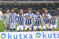 Real Sociedad's team photo during La Liga match.November 23,2013. (ALTERPHOTOS/Mikel)