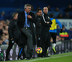 Sam Allardyce manager of Everton kicks the ball during the premier league match at the Goodison Park Stadium, Liverpool. Picture date 2nd December 2017. Picture credit should read: Simon Bellis/Sportimage