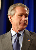 United States President George W. Bush makes remarks prior to signing H.R. 1588, the National Defense Authorization Act of Fiscal Year 2004 at the Pentagon in Arlington, Virginia on November 24, 2003.  <br /> Credit: Ron Sachs / CNP