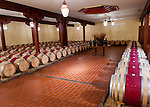A barrel room at Barboursville Vineyards is open to visitors from the adjoining tasting room.