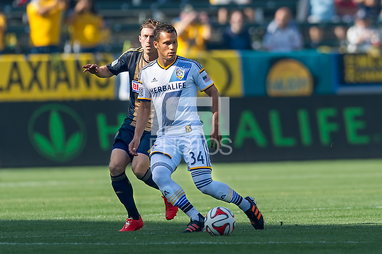 CARSON, CA - May 25, 2014: LA Galaxy vs Philadelphia Union match at the StubHub Center in Carson, California. Final score, LA Galaxy 4, Philadelphia Union  1.