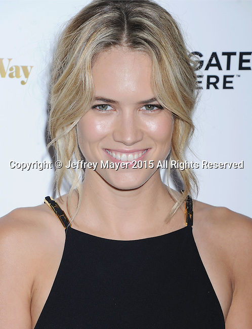 LOS ANGELES, CA - AUGUST 19: Actress Cody Horn arrives at the Premiere Of Lionsgate Premiere's 'She's Funny That Way' at Harmony Gold on August 19, 2015 in Los Angeles, California.