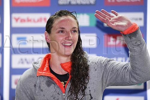 25.10.2016. Tokyo, Japan.  Katinka Hosszu (HUN), FINA Swimming World Cup Tokyo Women's 100m Butterfly Award Ceremony at Tatsumi International Swimming Pool, Tokyo, Japan.