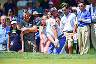 Bethesda, MD - June 26, 2016: Ernie Els (RSA) hits out of a sand trap on the fourth hole during Final Round of play at the Quicken Loans National Tournament at the Congressional Country Club in Bethesda, MD, June 26, 2016.  (Photo by Philip Peters/Media Images International)