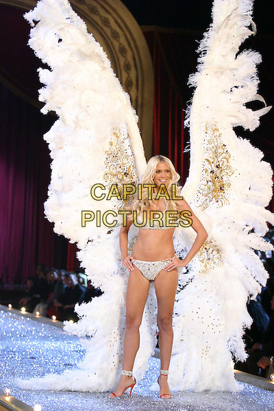 MODEL.9th Annual Victoria's Secret Fashion Show Inside.Lexington Avenue Armory.catwalk, underwear, lingerie, belly, stomach, midriff, wings, angel, full length, full-length.www.capitalpictures.com.sales@capitalpictures.com.©Capital Pictures
