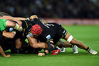 James Haskell of Northampton Saints in action at a scrum. Gallagher Premiership match, between Northampton Saints and Harlequins on September 7, 2018 at Franklin's Gardens in Northampton, England. Photo by: Patrick Khachfe / JMP