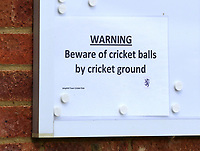 Ampthill Town Cricket Club take part in their first friendly match after the UK government allowed outdoor sports to re-commence today following the coronavirus pandemic lockdown. Locker rooms are not allowed, so members change outside. Ampthill, Bedford on Saturday July 11th 2020<br /> <br /> Photo by Keith Mayhew