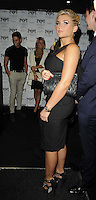 Billie Faiers .attended the Kensington Club new boutique nightclub launch party, The Kensington Club, High Street Kensington, London, England,.20th July 2012..full length black dress straps side clutch bag .CAP/CAN.©Can Nguyen/Capital Pictures.