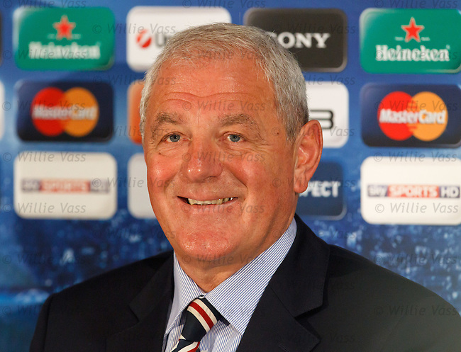 Walter Smith at Old Trafford for the Champions League Press Conference
