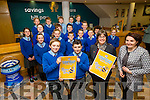 Cahersiveen Credit Union launched their 'Bizzy Bees' savers club on Monday with the help of the 6th Class pupils from Scoil Saidhbhín Cahersiveen, pictured front l-r; Billy O'Connell, Cian O'Donoghue, Elma Shine(Manager CCU) & Mary Sugrue(Principal Scoil Saidhbhín).