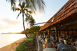 The restaurant at the Hotel Molokai in the town of Kaunakakai, Molokai, Hawaii, USA