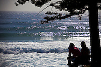 Line up at Burleigh Heads during Cyclone Jasper, Queensland, Australia.  Photo: joliphotos.com