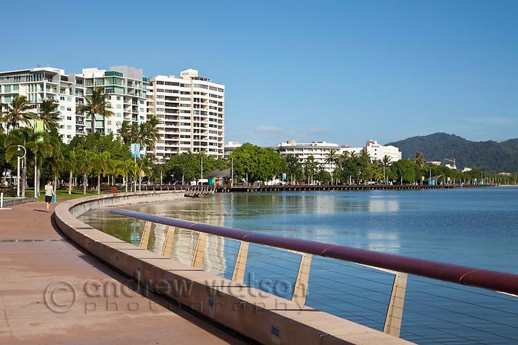 View along the Esplanade waterfront.  Cairns, Queensland, Australia