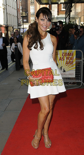 Lizzie Cundy<br /> The &quot;Come As You Are ( Hasta La Vista ) UK film premiere, Curzon Mayfair cinema, London, England.<br /> June 5th, 2013<br /> full length clutch bag red white dress<br /> CAP/CAN<br /> &copy;Can Nguyen/Capital Pictures