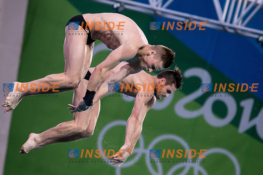 Team USA BOUDIA David JOHNSON Steele<br /> 10m platform synchro men<br /> Rio de Janeiro  XXXI Olympic Games <br /> Olympic Aquatics Stadium <br /> diving 08/08/2016<br /> Photo Giorgio Scala/Deepbluemedia/Insidefoto