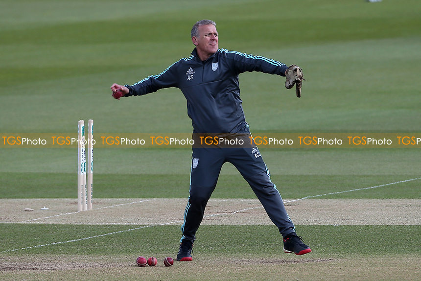 Alec Stewart of Surrey during Surrey CCC vs Essex CCC, Specsavers County Championship Division 1 Cricket at the Kia Oval on 12th April 2019
