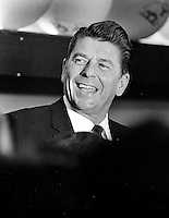Ronald Reagan speaks at rally...(1966 photo/Ron Riesterer)