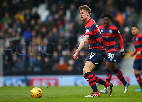 17th March 2018, Craven Cottage, London, England; EFL Championship football, Fulham versus Queens Park Rangers; Matt Smith of Queens Park Rangers on the ball