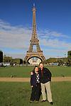 John and Beth at the Tour Eiffel and Champ de Mars, Paris, France.